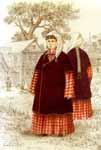 Татарская женская традиционная одежда. Девочка в Ак калфак