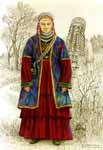 Старинный татарский женский костюм