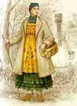 Татарская женская народная одежда